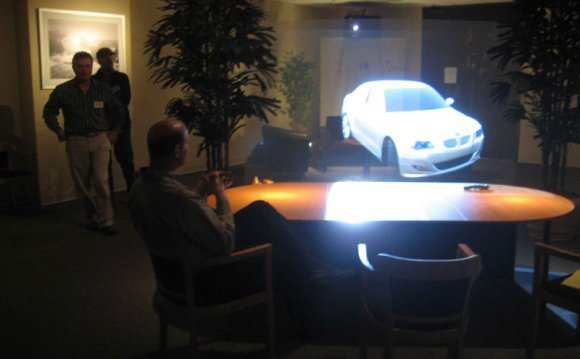 3D projection of a car