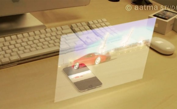 Holographic iPhone 5 display