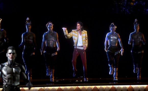 A Michael Jackson hologram