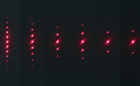 Diffraction pattern of green