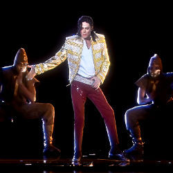 holographic image of Michael Jackson