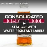 Still frame of water resistant labels video