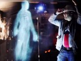 Interactive hologram projector